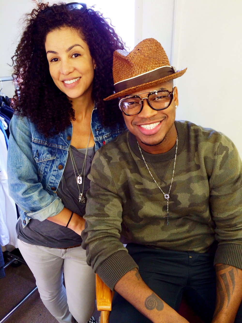 Melissa Meister and NeYo.JPG