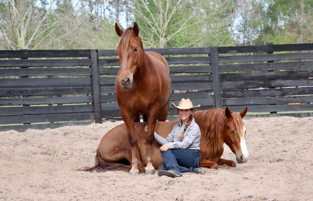 Cat Zimmerman - Cat Zimmerman, 17, is the co-founder and head trainer at CZ Mustangs, Extreme Mustang Makeover trainer, and the official 2019 Youth Ambassador for the Mustang Heritage Foundation. Cat is a self-taught trainer, developing her own methods for colt starting, mustang gentling, liberty training, trick training, groundwork fundamentals, and so on.Cat performs and competes at various events across the country with her personal herd of mustangs to help educate the public about the American Mustang, and to showcase the trainability of the breed through liberty and trick performances.