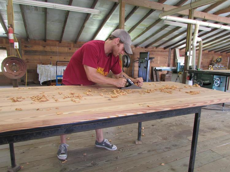 Lead Craftsman Matt Noble at work in North Carolina