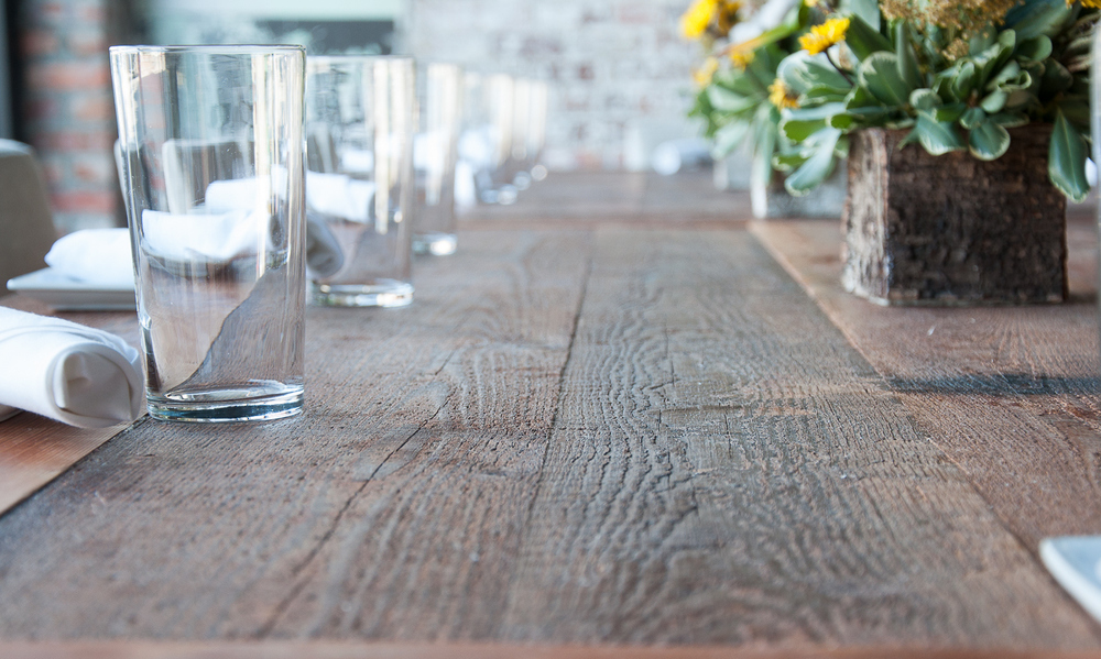 Reclaimed wood Carolina Farmstead dining table