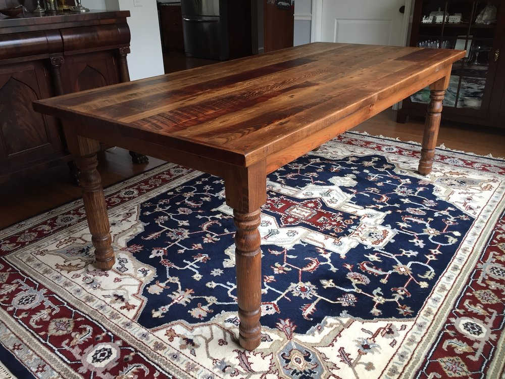 Grandma's Kitchen Table stained in Pecan Pie