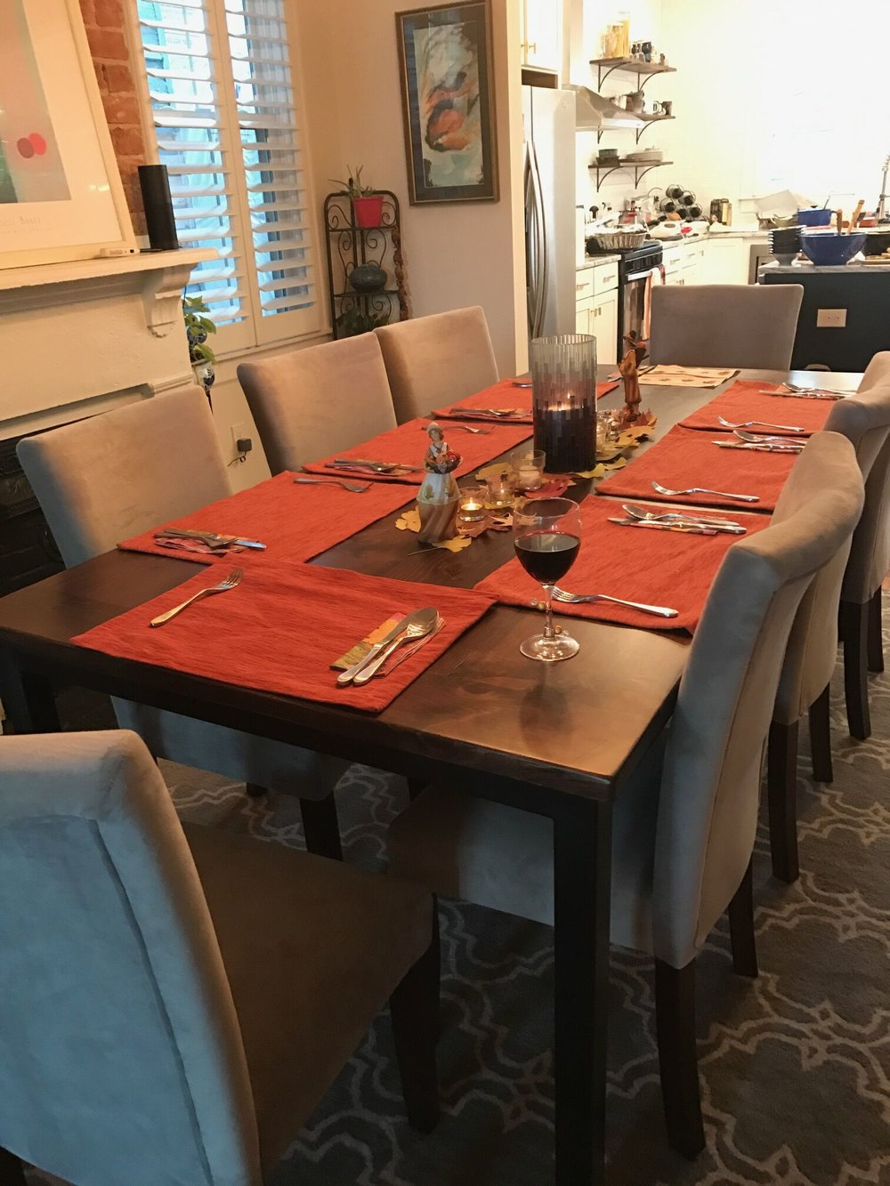 Dining Table with Iron Base