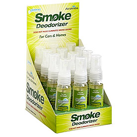 Look for our Airavida Smoke Deodorizer display in the Greater New York City area retailers that specialize in products related to tobacco and cannabis.