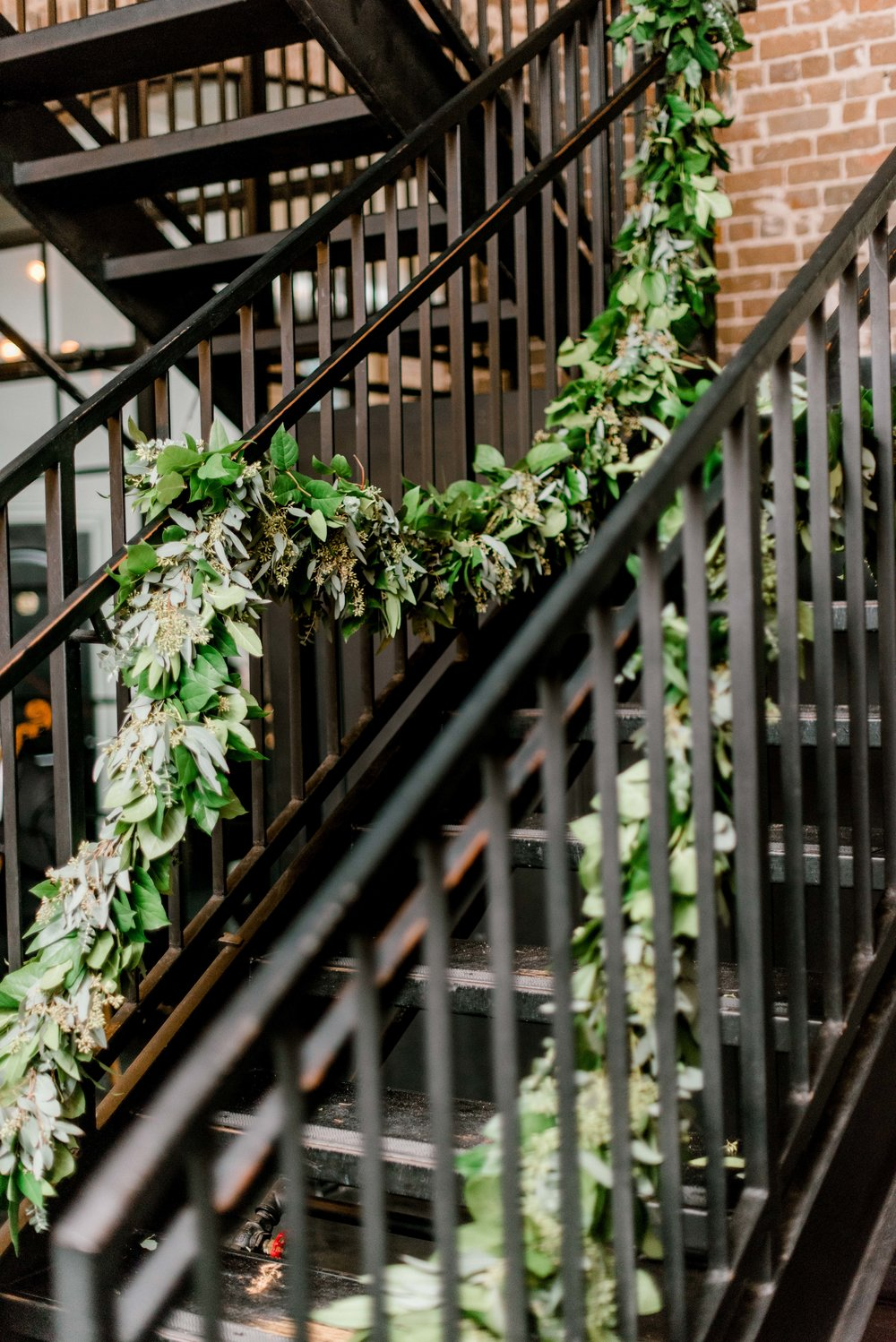 A little touch of greenery added to our stairs.