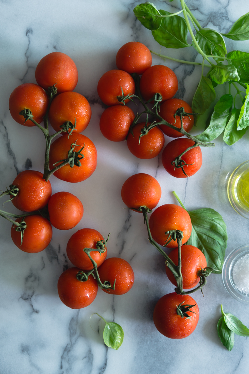 Basil roasted tomatoes
