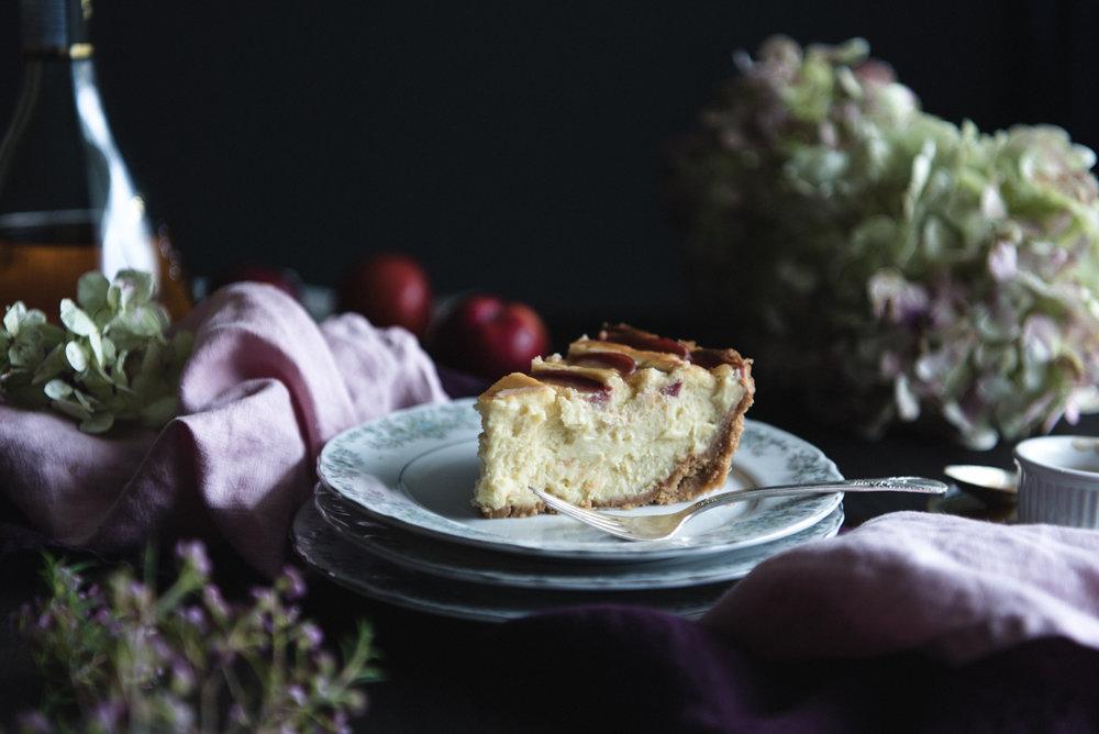 Sugar plums cheesecake