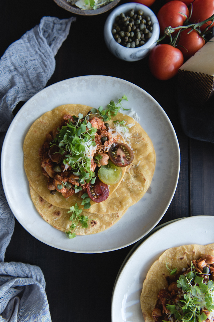 Spanish fish stew tacos recipe