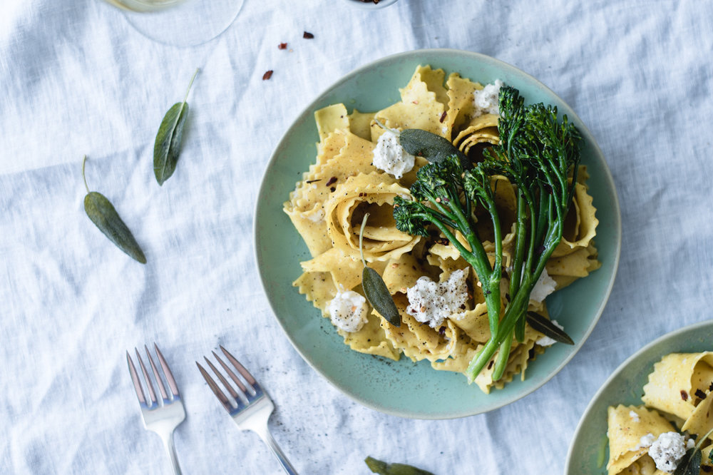 Turmeric Pappardelle in a Sage and Citrus Beer Sauce