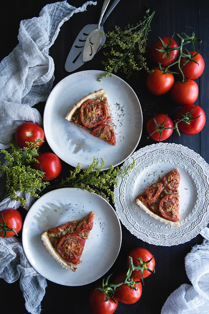 Tomatoe and mustard tart recipe