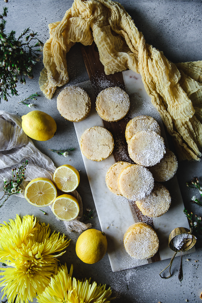 Lemon Blondie Bars - Blondie CrustUnsalted butter at room temperature – ½ pound (2 sticks)Dark brown sugar – ½ cupRaw sugar – 2 TBSPVanilla extract – 2 TspFine sea salt – 1 TspLarge eggs - 2Unbleached all purpose flour – 2 cupsLemon FillingLarge eggs – 6Raw sugar – 3 cupsLemon zest – 1 to 2 TBSPFreshly squeezed lemon juice – 1 cupUnbleached all purpose flour – 1 cupPowdered sugar to dust