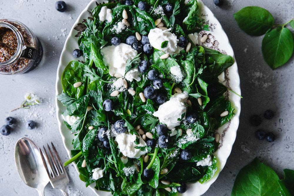 Marinated Spinach salad recipe