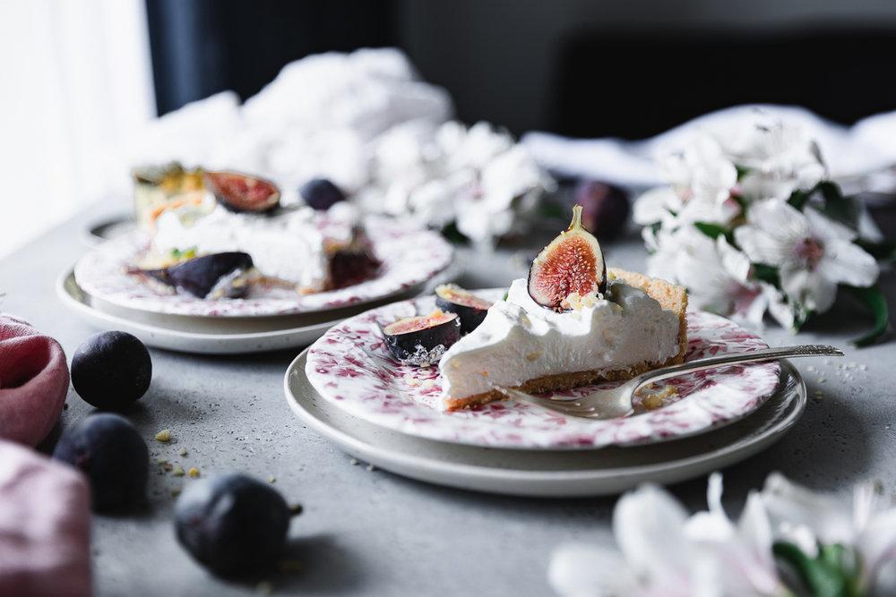 No-bake fig tart