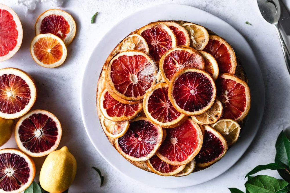 Olive oil and citrus cake