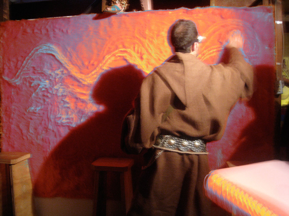 Title: Coatlicue, Mi Amor   Medium: Multimedia performance Date: February 2010 Notes: Coatlicue, Mi Amor was a multi-media, multi-sensory performance that attempted to break down the invisible wall between audience and performers.