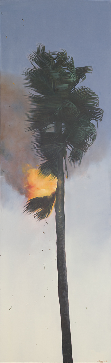 Flaming Palm Tree