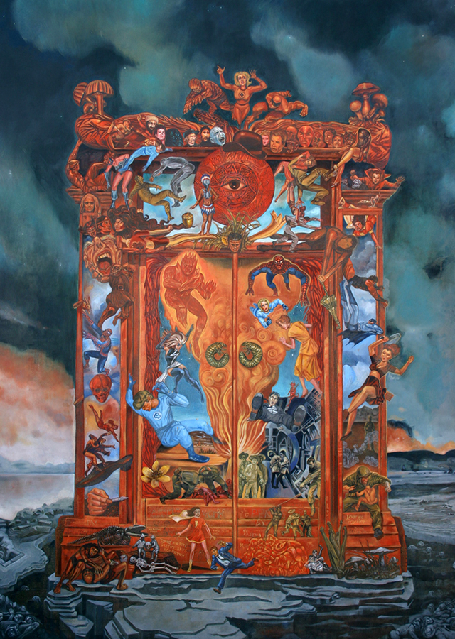 "The Gates of Heck 43"" x 50"" Oil on canvas 2014"