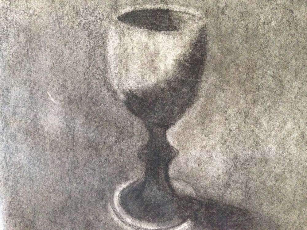 Cup, charcoal, 2014