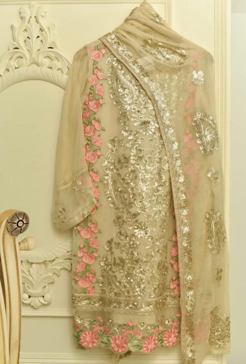 0e1f966980 Agha Noor Gold & Pink Embroidered Pure Chiffon Outfit- L. IMG_2897.jpg