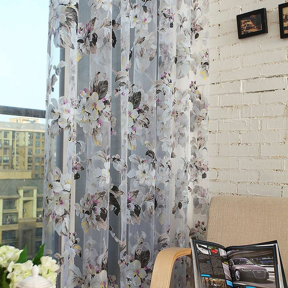 DMC477 - Dolce Mela Sheer Curtain Panels - Amsterdam