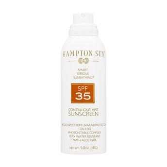 Hampton Sun Continuous Mist Sunscreen SPF35, £33 (www.spacenk.co.uk)