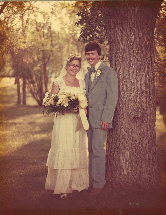 Dalles & Susan Schneider wedding, June 11th, 1977