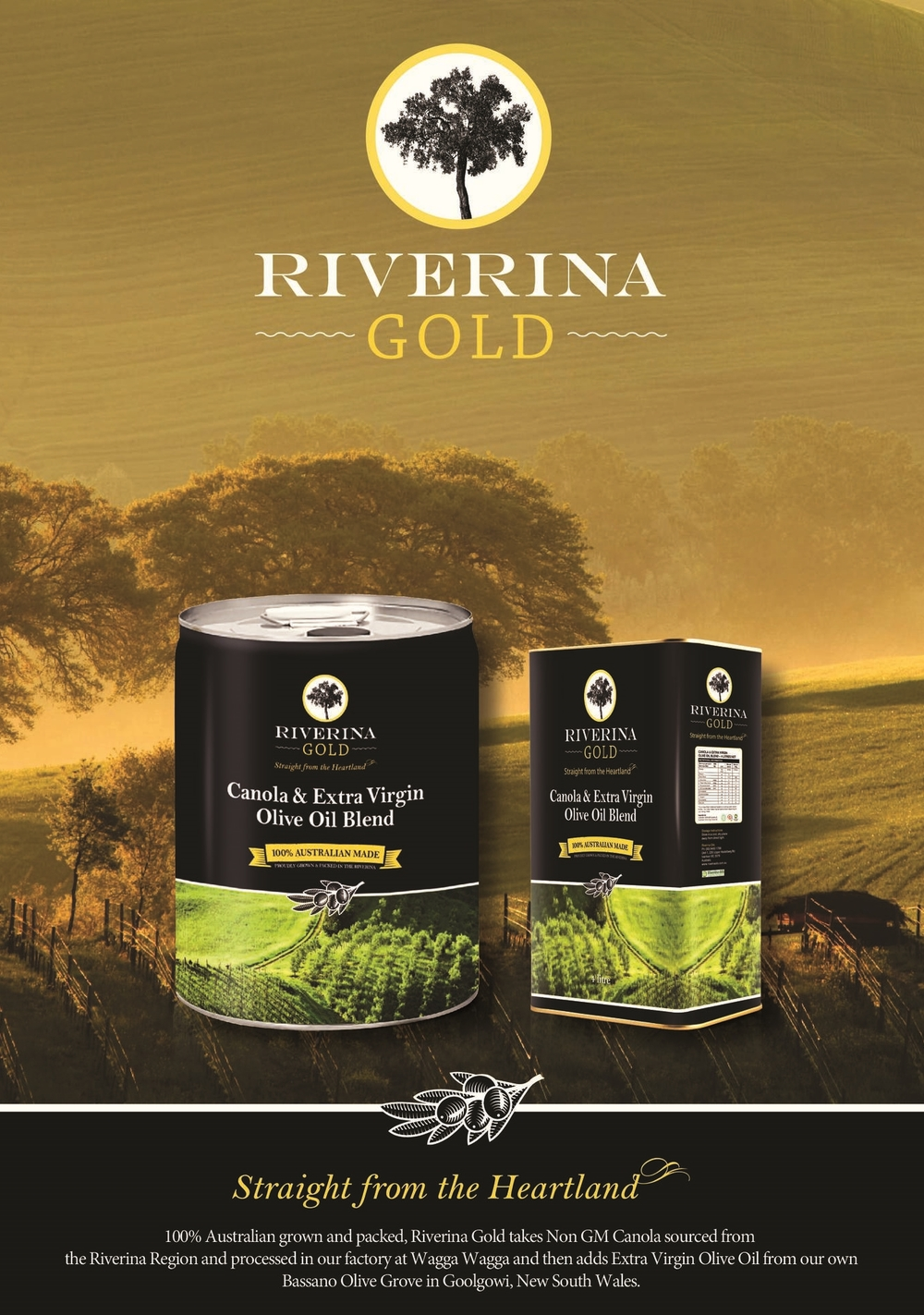 Riverina Oils NON GM Canola Oil and Olive Oil Blend