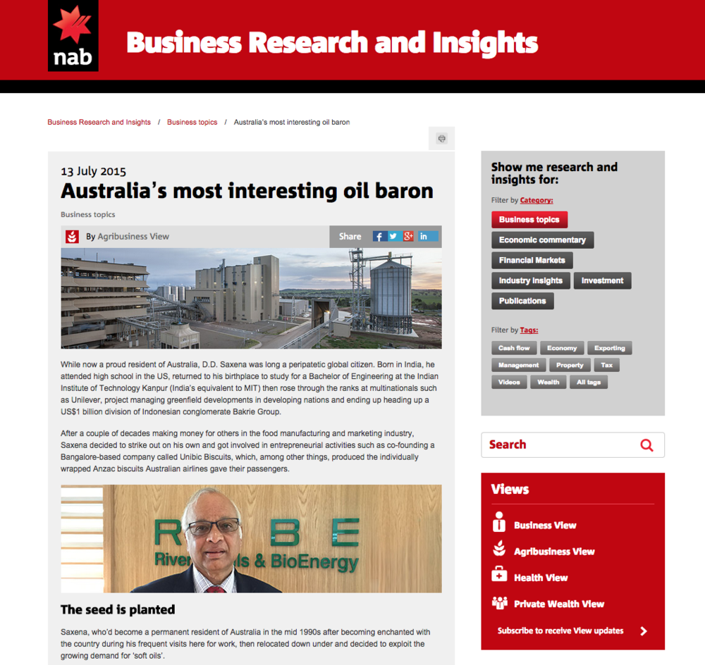 13 July 2015 Australia's most interesting oil baron, NAB Business Research and Insights