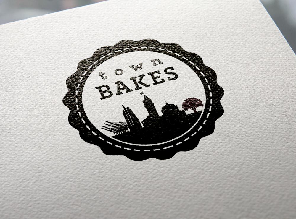 Logo Design for screen print, Town Bakes