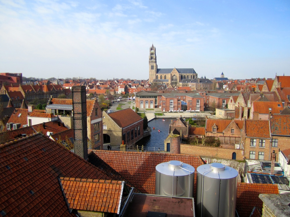The view from the roof of De Halve Maan brewery.