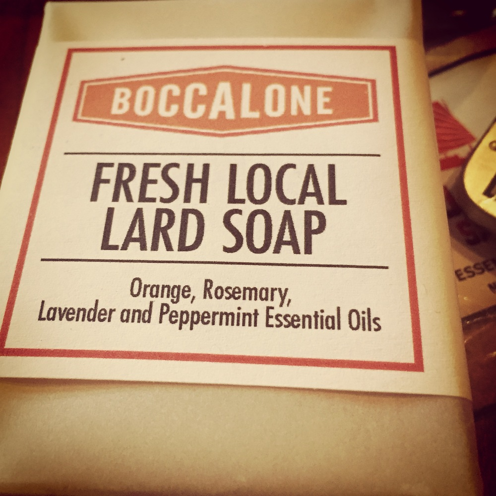 Fresh local lard soap, Boccalone