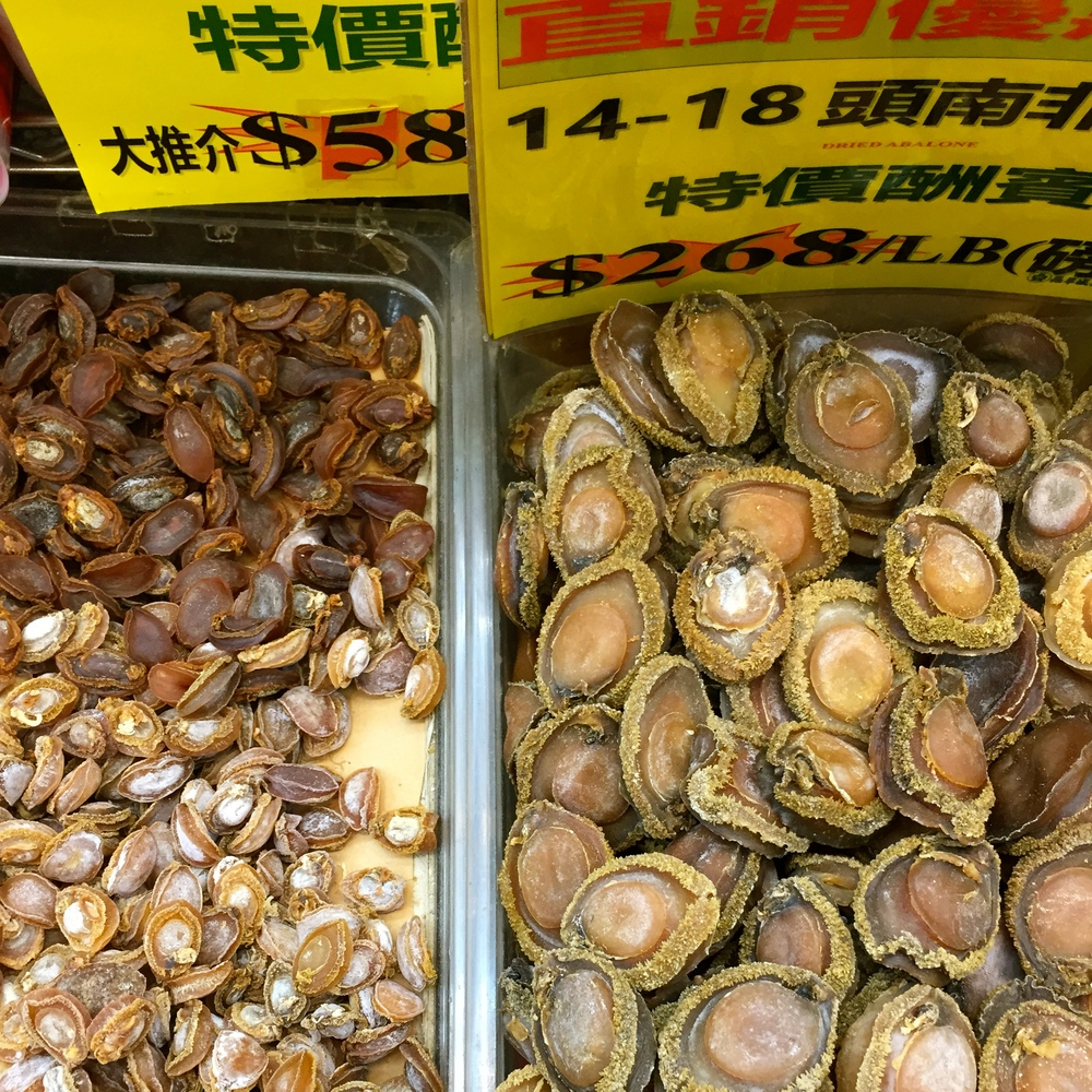 Dried shellfish in Chinatown