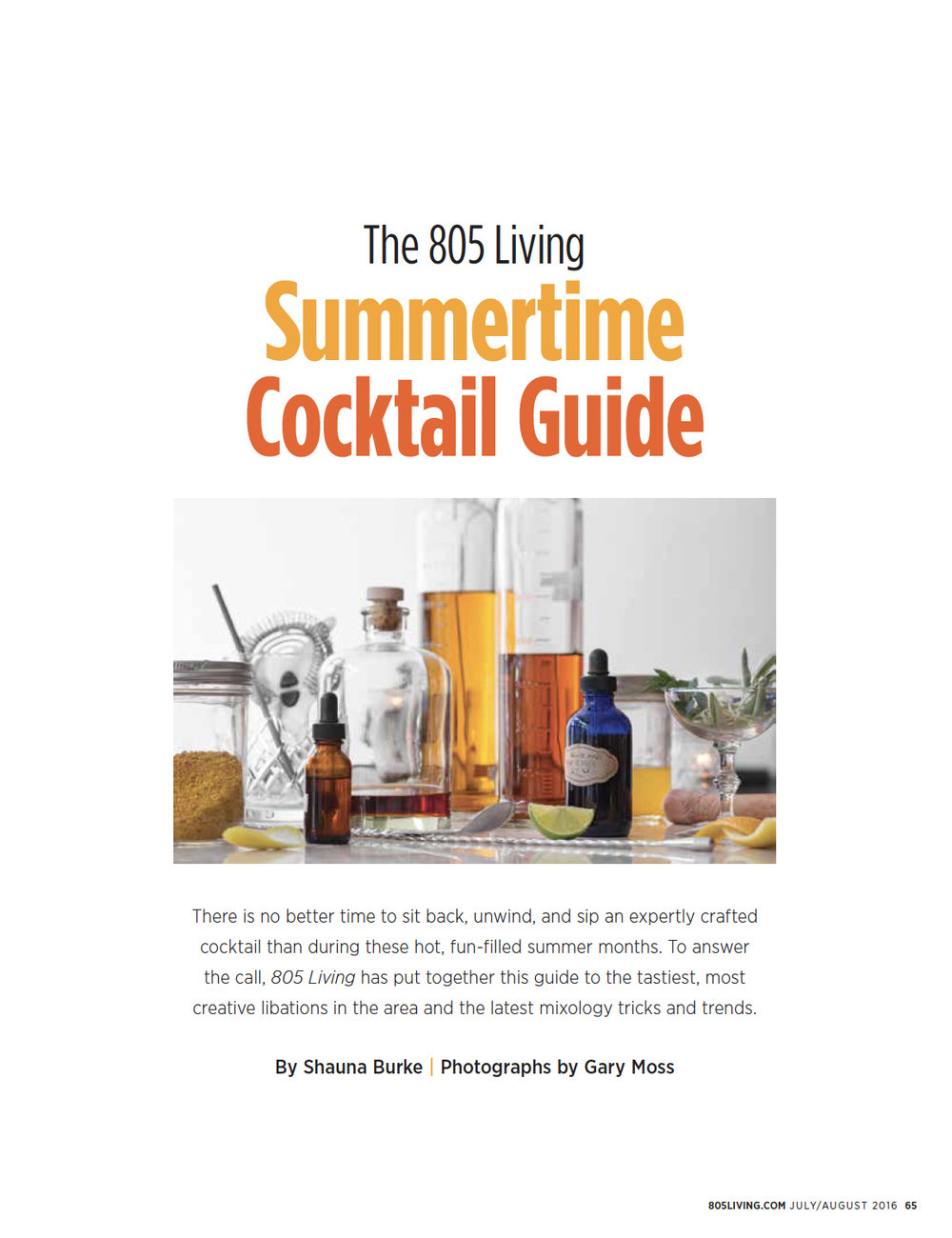 Summertime Cocktail Guide /  805 Living