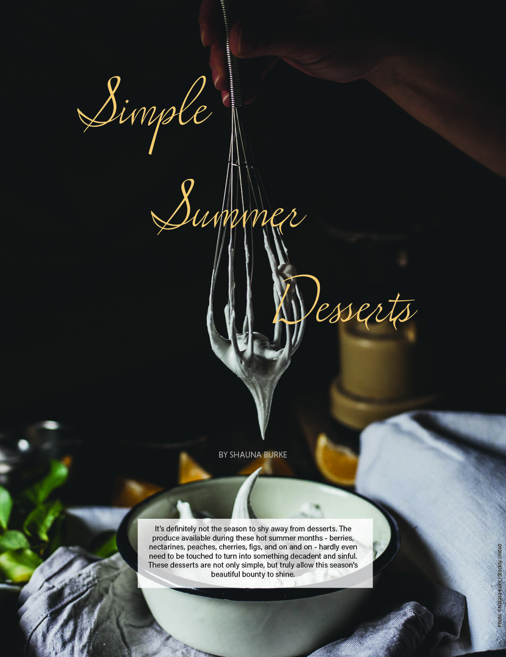 Simple Summer Desserts /  Edible LA