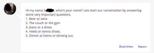 Pick up line for online dating