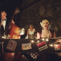 Glamorous Wedding at the Lost River Cave in Bowling Green KY,  the bride sat in on drums!!!