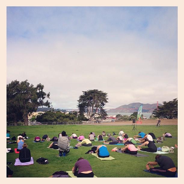 Yoga Rocks the Park!  #loveMYjob