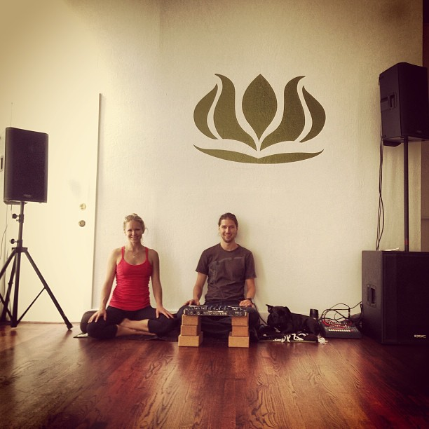 Yoga Check!;)  Sound system- set up REBOOT here we come!