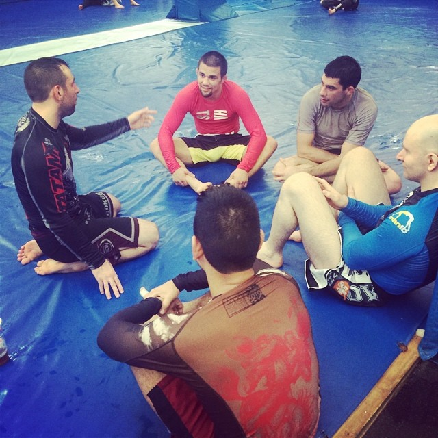Garry Tonon is wearing VHTS red Rash guard and Black fight short. they are avaliable at www.vhtsny.com