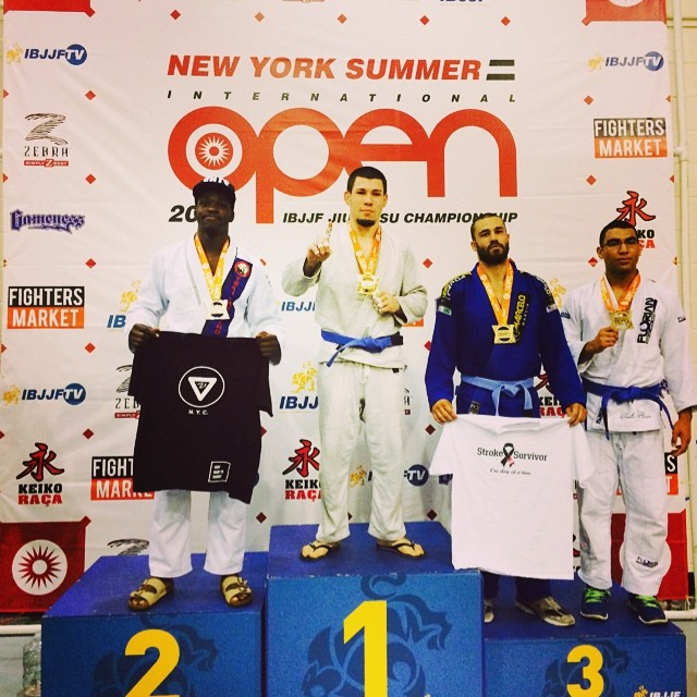 VHTS ninja Devhonte got second at his weight class. He is wearing VHTS G1 kimono.