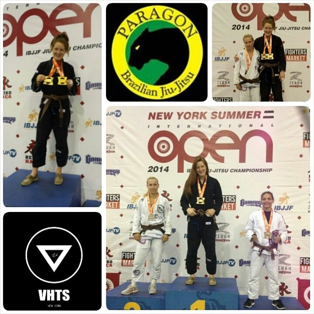 VHTS ninja Laurah Hallock got double gold at ther weight and open class. She is representing VHTS galaxy kimono!