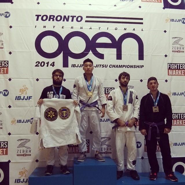 Eric Con Phan, VHTS ninja got first place at IBJJF Toronto open! Representing G1 kimono!