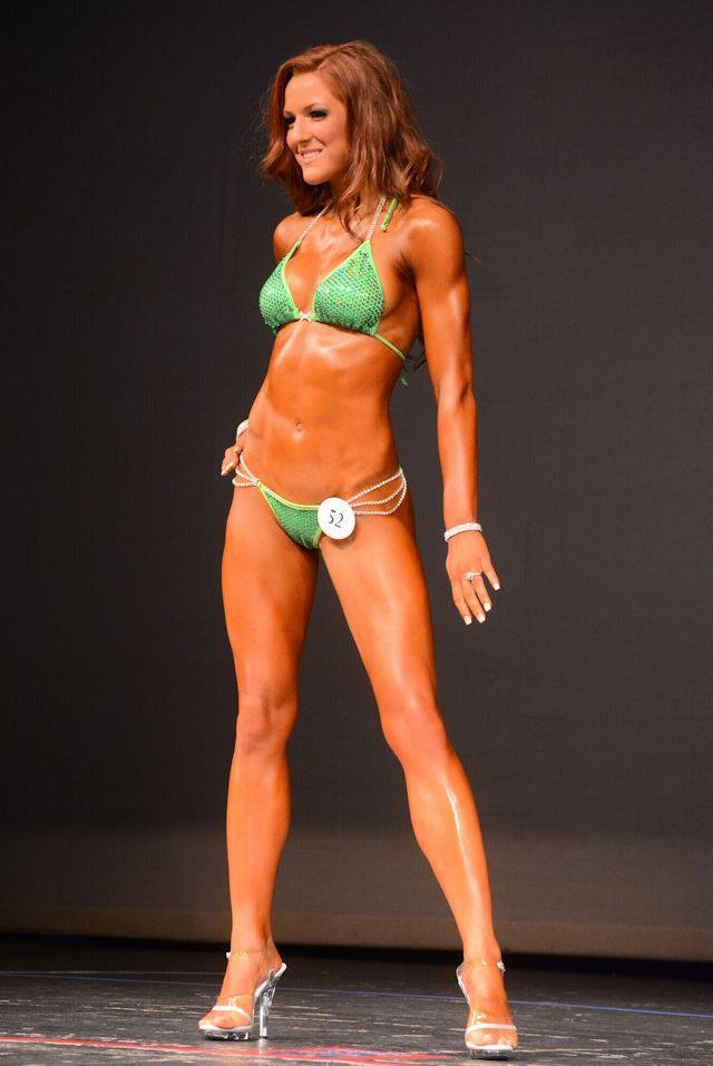 Lora Hallock at one of her Bodybuilding comps just killing it!