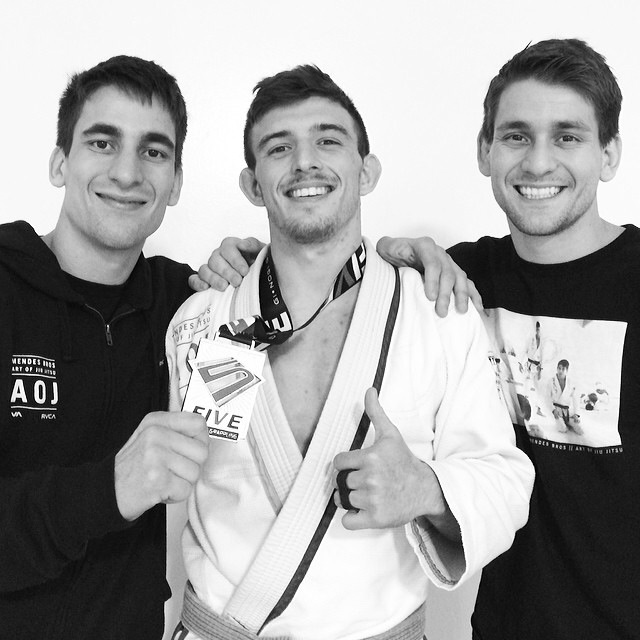 Rubbing elbows with two of the best at BJJ Gui and Rafa Mendes