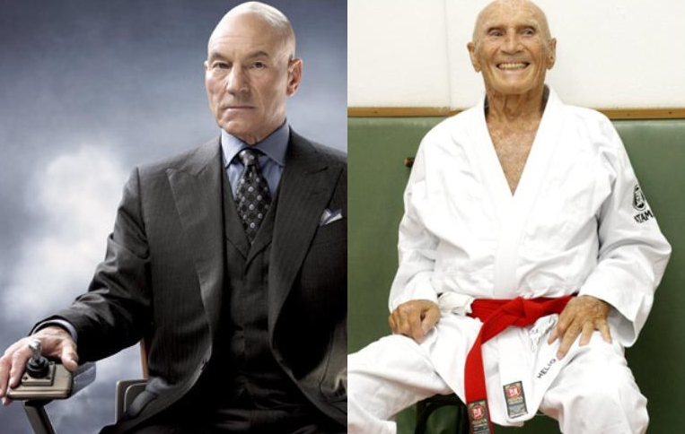Professor X and Grand Master Helio Gracie