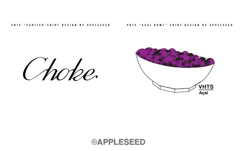 The CHOKE T-shirt is a very clean looking one while the ACAI T-shirt makes a reference to popular Brazilian super-berry