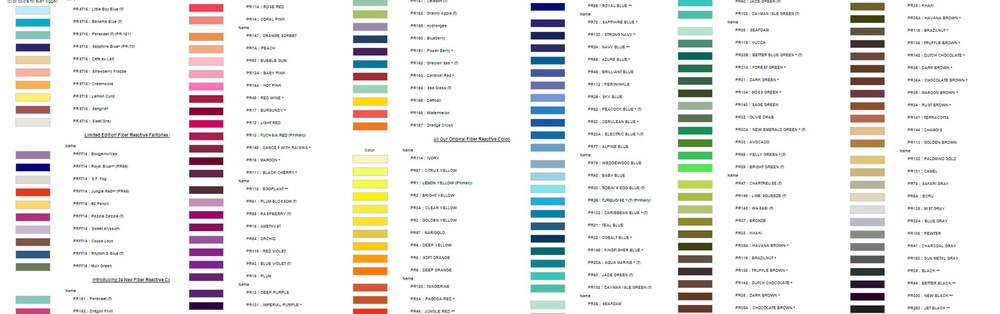 a rainbow of gi colors, this an more (even moreso if you count lighter shades and darker shades)