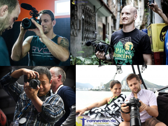 Some of bjj's best photographers and filmakers (Stuart Cooper, Hywel Teague, William Burkhardt and Mike Calimbas)