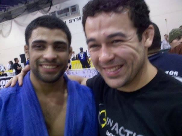 Munch with his BJJ Coach/Professor Marcelo Garcia, a 4x ADCC champion, 5x World BJJ champion and             3x Brazilian National Champion