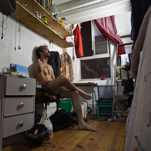 "Sharehouse; Jimmy , 2011 Archival ink on Baryta, 12"" x 12"""
