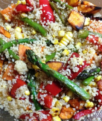 Grilled vegetable and quinoa salad, gluten-free